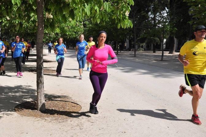 Entrenando en el Parque El Retiro, Madrid